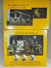 The Real Life Nativity Three Kings Gifts 7 Figure Set 14 Pcs  Lighted Stable
