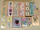 Lot 11 Jehane Boden Spiers Penny Black Rubber Stamps Borders Flowers LOVE BDAY