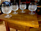 Lot Of 4 BOHEMIA QUEEN LACE HAND CUT LEAD CRYSTAL BRANDY GLASS