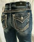 NEW MISS ME JEANS WITH TAGS M 5014B355 CHLOE BOOT CUT MID RISE INSEAM 34