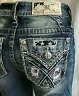 NEW WITH TAGS MISS ME JEANS M3444B33 CHLOE LIBERTY BOOT CUT INSEAM 34