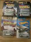Hot Wheels Back To The Future Delorean Lot of 4 Hover Mode