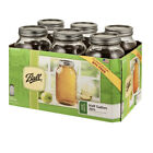 Ball Glass Mason Jars with Lids  Bands Wide Mouth 64 oz 6 Count NEW