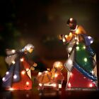Holy Family Lighted Indoor Outdoor Mosaic Nativity Christmas Scene 3 Piece Set