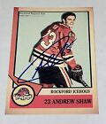 Andrew Shaw SIGNED 2012-13 Rockford Icehogs AHL RC Card Auto Chicago Blackhawks