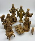 Vintage Fontanini 10 pc Depose Italy Nativity Christmas Manager Figures 5 Scale