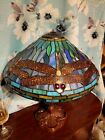 Original stunning stained glass table lamp signed by Dale Tiffany