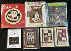 Sew On Fabric Applique  Quilt Patterns Christmas LOT of 7 Sunset Stocking Cards