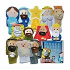 The Nativity Finger Puppet Set 12 Pack Includes Storybook Birth of J