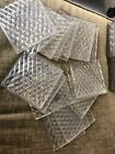 20 Antique Prism Glass Tiles Diamond Quilted LUXFER 4 Lenticular Clear