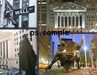 New York WALL ST - collage with Bull - Travel Souvenir Flexible Fridge Magnet