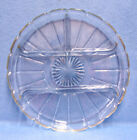 VINTAGE LARGE CLEAR GLASS DIVIDED RELISH TRAY