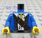 NEW Lego Pirate Boy/Male Minifig BLUE CAPTAIN TORSO w/White Shirt