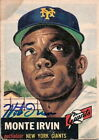 MONTE IRVIN Autograph 1953 Topps # 62 card Giants
