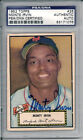 Monte Irvin Autograph 1952 Topps # 26 New York Giants
