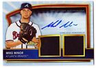 Mike Minor 2011 Topps Finest AUTOGRAPH Dual JERSEY #68 REFRACTOR Card #d 488 499