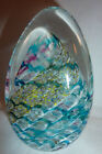 SIGNED LUSH ART GLASS PAPERWEIGHT MINT CONDITION