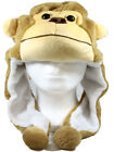 SHORT MONKEY  BEANIE TROOPER HAT SCARF  FITS JUNIOR KIDS & ADULT NEW NWT