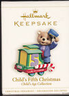 2006 Dated Hallmark Child's Fifth Christmas Commemorative Ornament NIB NEW