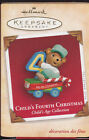 2003 Dated Hallmark Child's Fourth Christmas Commemorative Ornament NIB NEW