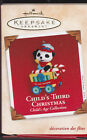 2002 Hallmark Child's Third Christmas Commemorative Ornament NIB NEW IN BOX