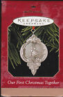 1999 Hallmark Our First Christmas Together Commemorative Ornament Dated NIB NEW