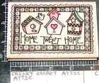 HOME TWEET HOME BIRD HOUSES RUBBER STAMP STAMPEDE