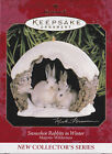 1997 Hallmark Rabbits in Winter Majestic Wilderness Ornament NIB NEW