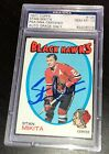 STAN MIKITA SIGNED 1971 TOPPS #125 PSA DNA Auto GEM MINT 10 CHICAGO BLACKHAWKS
