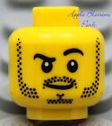 NEW Lego Police MINIFIG HEAD Boy w/Black Beard - Dino/City/Castle/Kingdom/Pirate