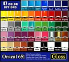 5 roll 12 Oracal 651 adhesive backed vinyl Outdoor Sign  Craft Die Punch cut
