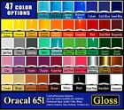 40 sheets 6x12 Gloss Oracal 651 Quality adhesive backed vinyl Sign