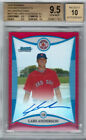 2008 BOWMAN CHROME LARS ANDERSON RED AUTO 10 BGS 9.5 4 5