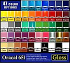 20 sheets 6x12 Oracal 651 Gloss adhesive backed vinyl Sign  Craft Quality