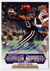 Vincent Brown 2011 Upper Deck World of Sports Rookie AUTOGRAPH #132