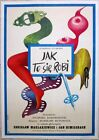 PRICE CUT 110 1974 POLISH LB POSTER JAK TO SIE ROBI AWESOME COLORFUL ART