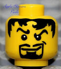 NEW Lego Pirate MINIFIG HEAD Kingdoms Castle Knight King Black Goatee Beard Hair