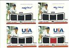 2011 Topps USA Baseball Hoby Milner AUTO Triple PW Jersey 4 Card Lot PHILLIES 25
