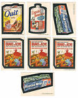 (7) 1973 TOPPS WACKY PACKAGES SERIES #4 STICKER LOT