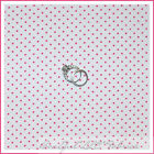 BonEful Fabric FQ Cotton Quilt White Pink S Calico Dot Girl Tiny Little Princess