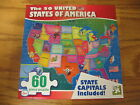 60 piece Puzzle, USA United States of America + Capitals, Brand New and Sealed