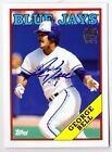 George Bell 2012 Topps Archives Fan Favorite On Card AUTOGRAPH Toronto Blue Jays