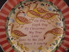 222 Fifth TWELVE DAYS OF CHRISTMAS Salad Plate Six Geese A Laying