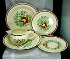 Lot of Taylor Smith Taylor 1939 Odd Pieces - Hand Painted Rose Decoration #1633
