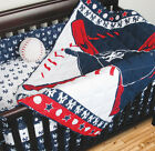 NEW YORK YANKEES Crib Set - Comforter, Bed Skirt, 2 Fitted Sheets, Bumper