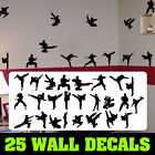 Taekwondo silhouettes martial artists decalfathead style sticker decal karate