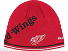 Detroit Red Wings RBK Center Ice Reversible NHL Player Striped Knit Hat Beanie