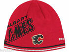 Calgary Flames RBK Center Ice Reversible NHL Player Striped Knit Hat Beanie