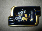Gold Double Cigarette Ashtray Made In Western Germany