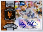 Gary Carter 2012 Topps Chasing History 300 Home Run AUTOGRAPH Mets Expos #CHA-GC